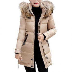 abrigo mujer color crema