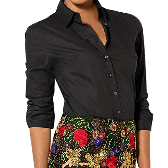 blusa mujer entallada de color negro que resalta la silueta