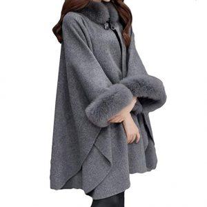 abrigo capa mujer
