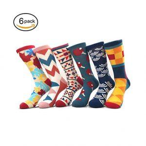 TTD paquete de 4/6 hombres/mujeres famosa pintura arte impreso divertido casual algodón calcetines de equipo